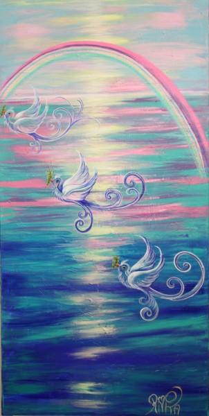 Peinture, acrylique, symbolisme, œuvre d'art par Rivka