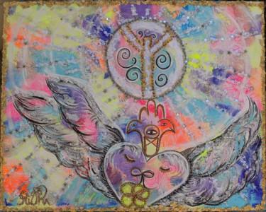 Peinture Amour, acrylique, symbolisme, œuvre d'art par Rivka